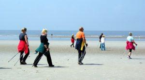 Walking am Strand